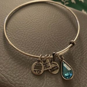 Alex and Ani charity by design bracelet (silver)